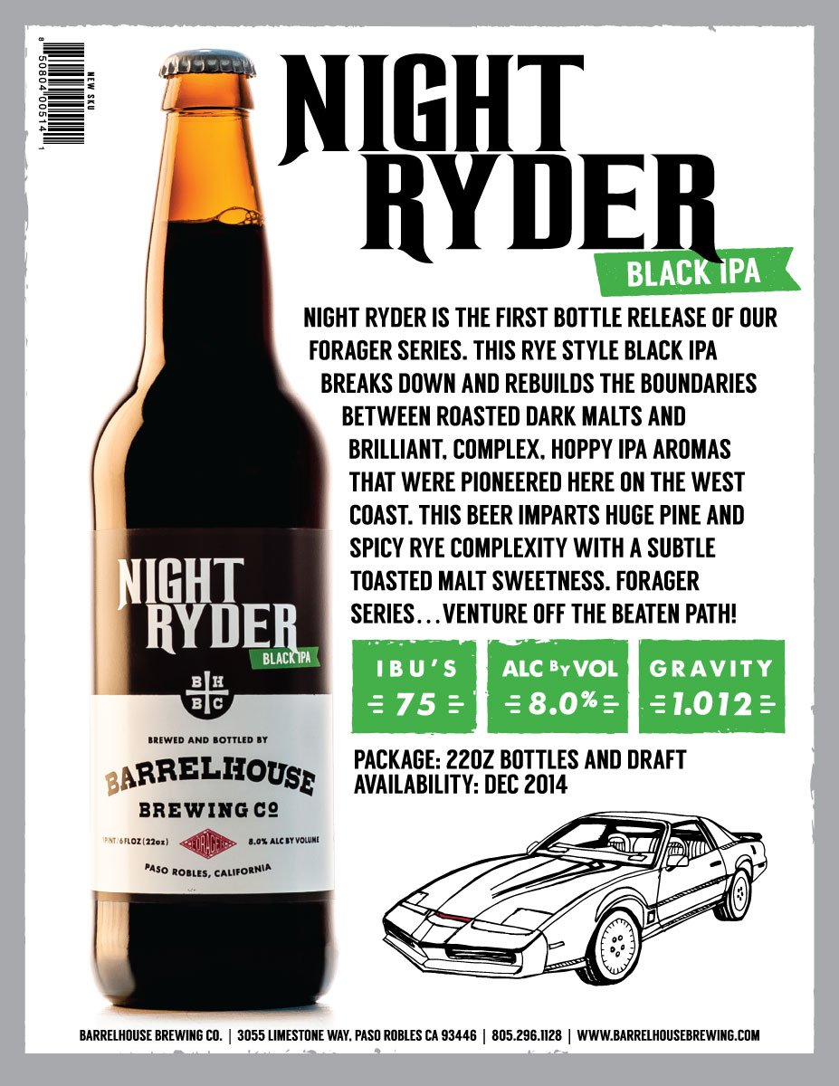 Night Ryder Sales Sheet