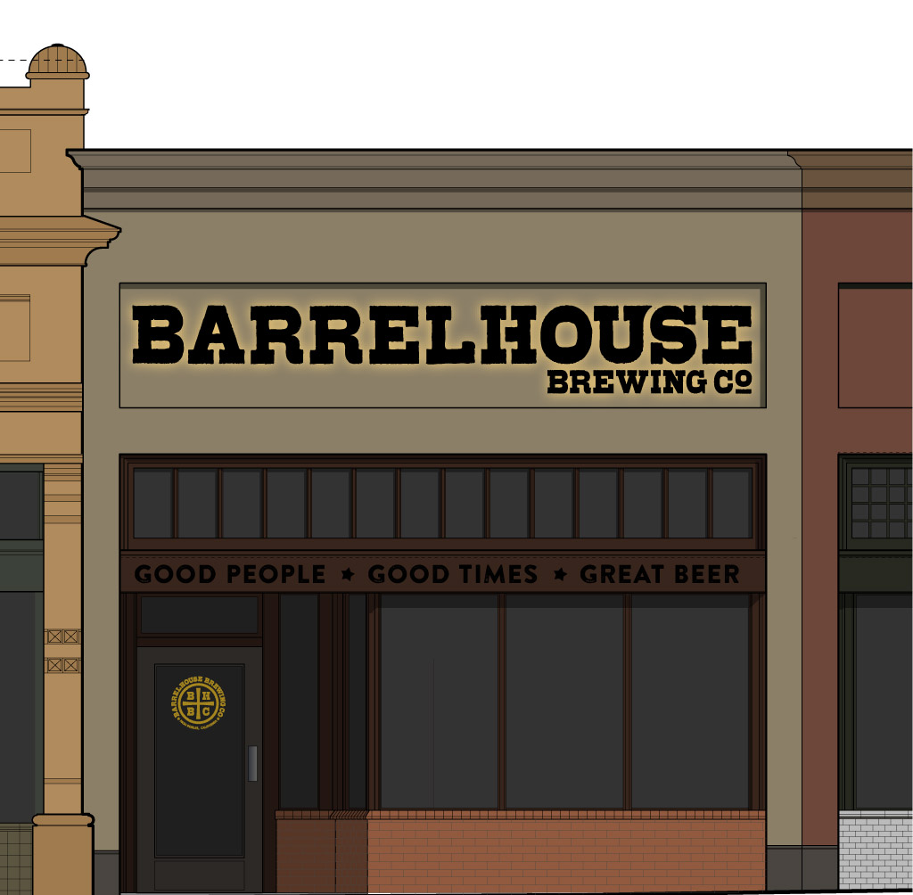 BarrelHouse Brewing Co. Taproom Rendering