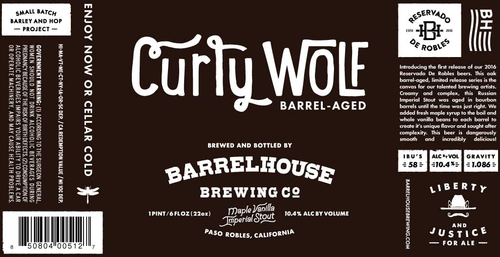 2016 Curly Wolf Label